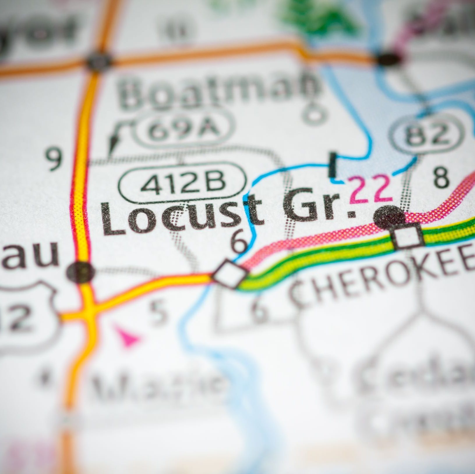 Photo of Locust Grove on a Map